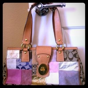 Coach Hampton Patchwork bag